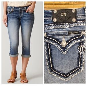 miss me jp550114cr cropped jeans size 26